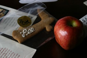 Nice touch.  A personalized cookie and other goodies for us at check in.